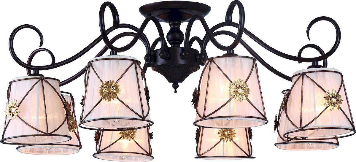Светильник потолочный Arte Lamp Fortuna A5495PL-8BR люстра на штанге arte lamp fortuna a5495pl 8wg