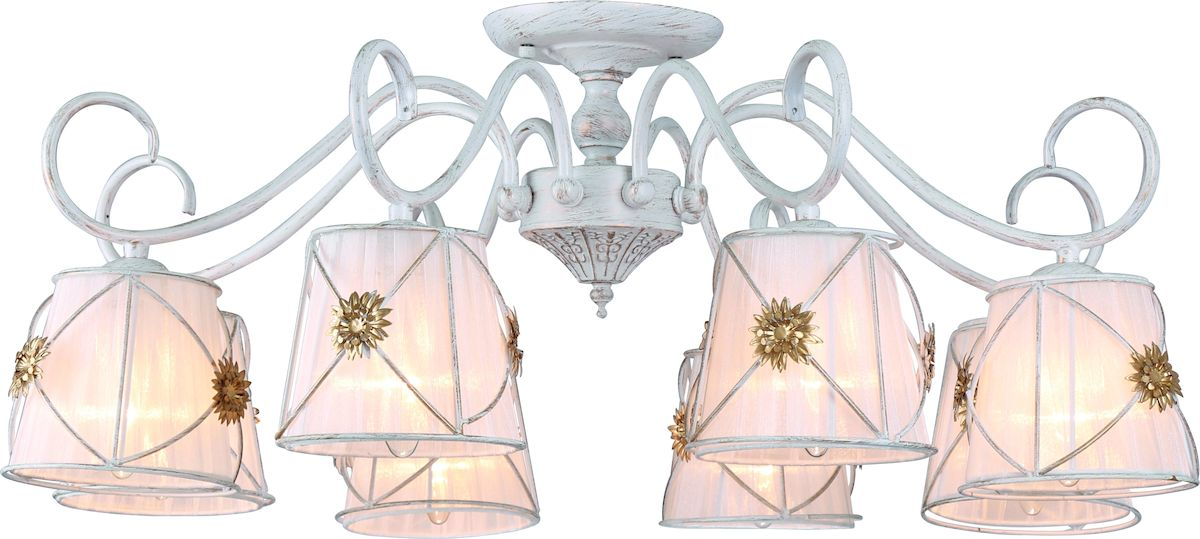 Светильник потолочный Arte Lamp Fortuna A5495PL-8WG люстра на штанге arte lamp fortuna a5495pl 8wg