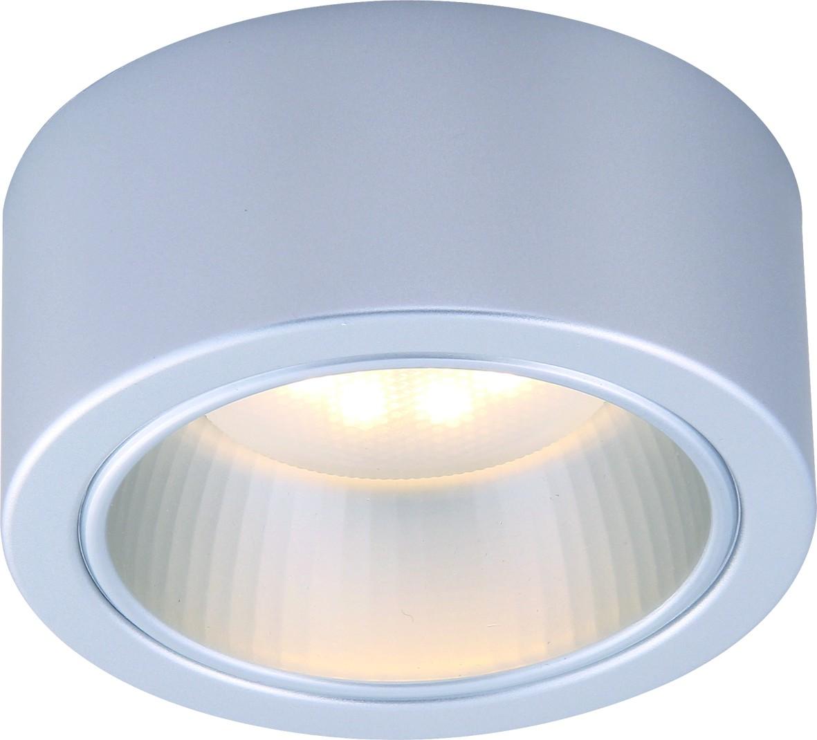 Светильник потолочный Arte Lamp Effetto. A5553PL-1GYA5553PL-1GYПотолочный светильник Arte Lamp Effetto поможет создать в вашем доме атмосферу уюта и комфорта. Благодаря высококачественным материалам он практичен в использовании и отлично работает на протяжении долгого периода времени. Лаконичный накладной спот круглой формы.Лампы: GX53; 1x11 W. Угол рассеивания света около 30 градусов. Тип крепления: на шурупах.