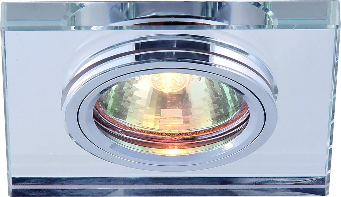 Светильник потолочный Arte Lamp Specchio. A5956PL-1CCA5956PL-1CCПотолочный светильник Arte Lamp Specchio поможет создать в вашем доме атмосферу уюта и комфорта. Благодаря высококачественным материалам он практичен в использовании и отлично работает на протяжении долгого периода времени. Стильный встраиваемый спот квадратной формы.Лампы: GU10, G5.3, 50 Ватт.Диаметр врезного отверстия: 6 см.