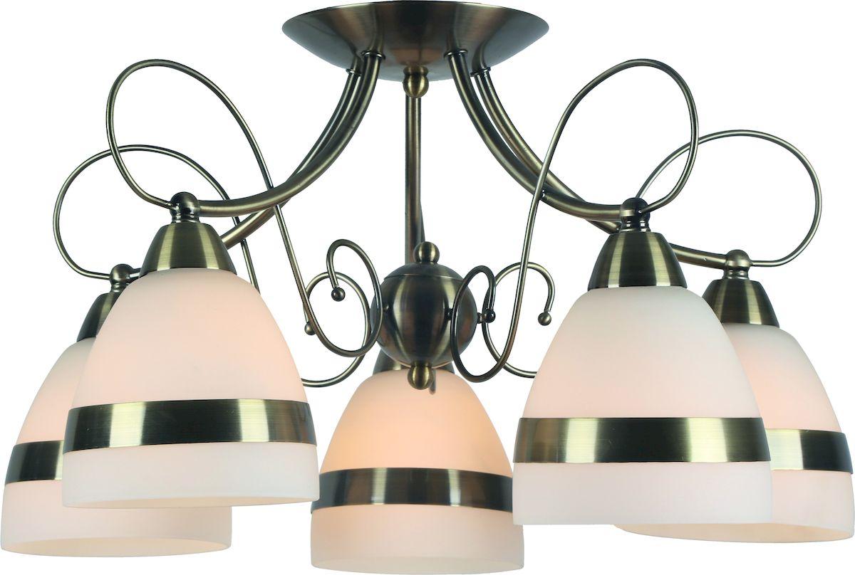 Светильник потолочный Arte Lamp Noemi. A6192PL-5ABA6192PL-5ABСветильник Arte Lamp Noemi поможет создать в вашем доме атмосферу уюта и комфорта. Благодаря высококачественным материалам он практичен в использовании и отлично работает на протяжении долгого периода времени. Материал: стекло, металл гальванизированный.Количество источников света: 5.Мощность источника света: 40 Вт.Цоколь: E14.Напряжение: 220В.Площадь освещения: 7 м2.