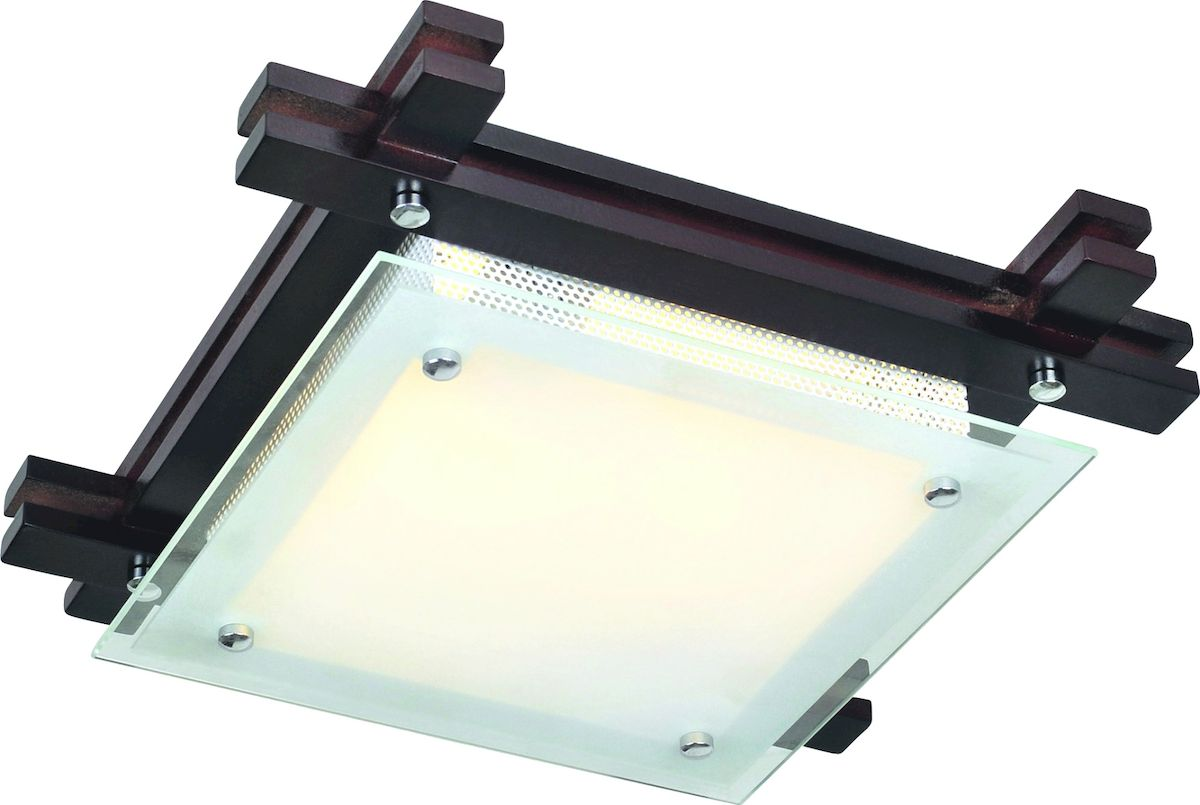 Светильник потолочный Arte Lamp Archimede. A6462PL-2CKA6462PL-2CKПотолочный светильник Arte Lamp Archimede поможет создать в вашем доме атмосферу уюта и комфорта. Благодаря высококачественным материалам он практичен в использовании и отлично работает на протяжении долгого периода времени. Стильный светильник квадратной формы с плафоном из матового и прозрачного стекла. Основание изготовлено из дерева венге.Длина и ширина: 30 см. Высота: 9 см. Лампы: Е27; 2x60 W. Тип крепления: монтажная планка на шурупах.