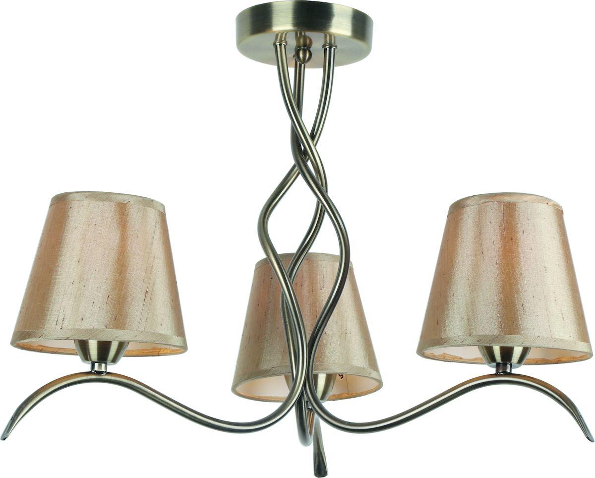 Светильник потолочный Arte Lamp Glorioso. A6569PL-3ABA6569PL-3ABПотолочный светильник Arte Lamp Glorioso поможет создать в вашем доме атмосферу уюта и комфорта. Благодаря высококачественным материалам он практичен в использовании и отлично работает на протяжении долгого периода времени. Люстра в стиле арт-деко с тремя плафонами из плотного золотистого текстиля. Плафоны направлены вверх. Диаметр люстры: 56 см. Лампы: Е14; 3x40 W. Тип крепления: на шурупах.