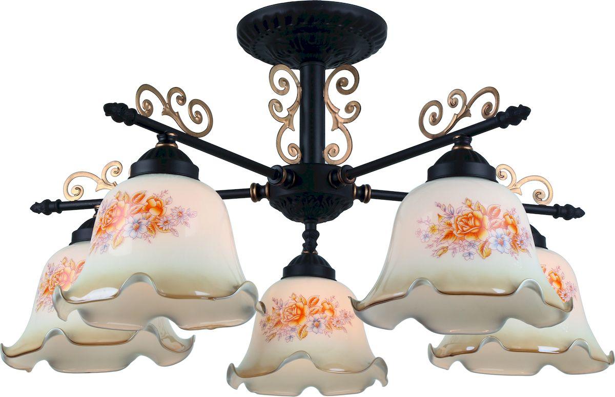 Светильник потолочный Arte Lamp AROMA A6582PL-5BR люстра на штанге arte lamp aroma a6582pl 5br