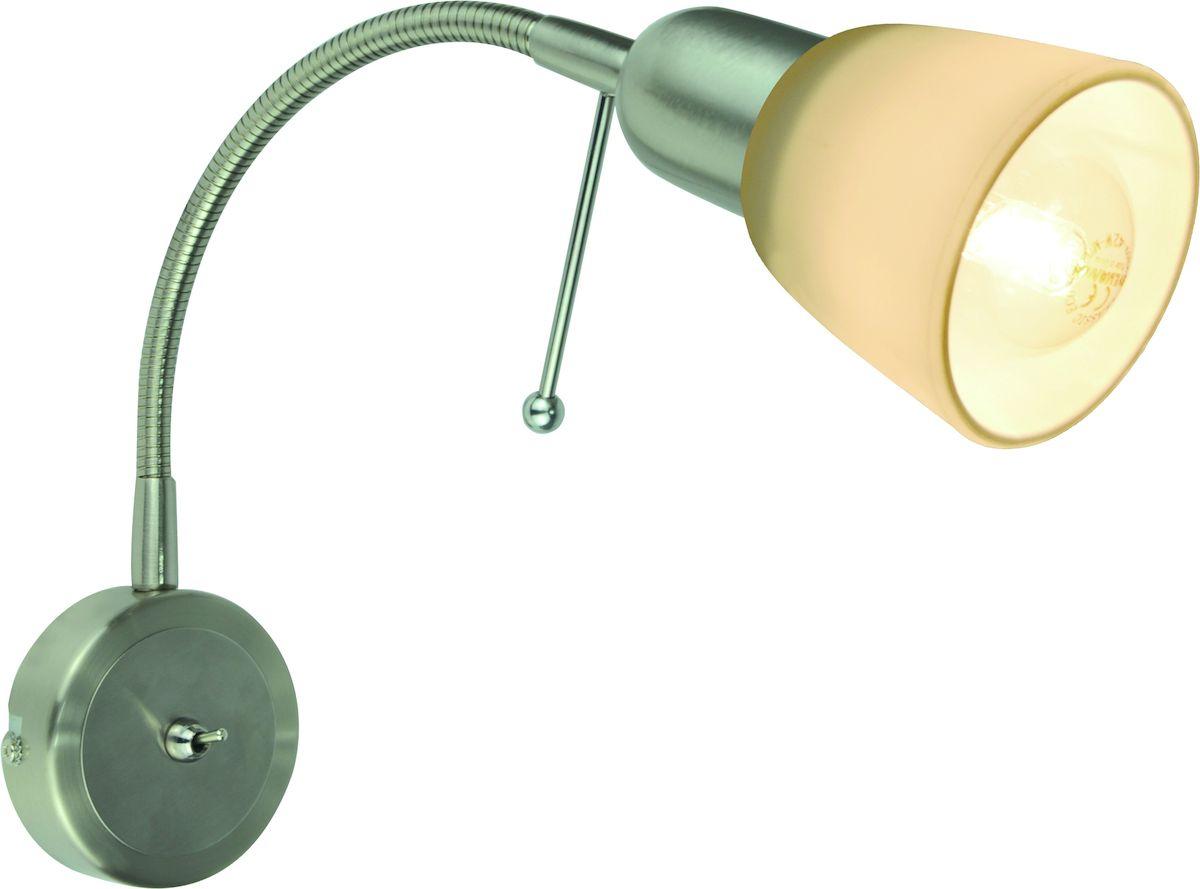 Светильник настенный Arte Lamp Lettura. A7009AP-1SSA7009AP-1SSСветильник Arte Lamp Lettura поможет создать в вашем доме атмосферу уюта и комфорта. Благодаря высококачественным материалам он практичен в использовании и отлично работает на протяжении долгого периода времени. Цоколь: Е14, 1х40 Ватт. Удаление от стены: 25 см. Крепление: монтажная планка в основании. Без выключателя на корпусе. Гибкая ножка.
