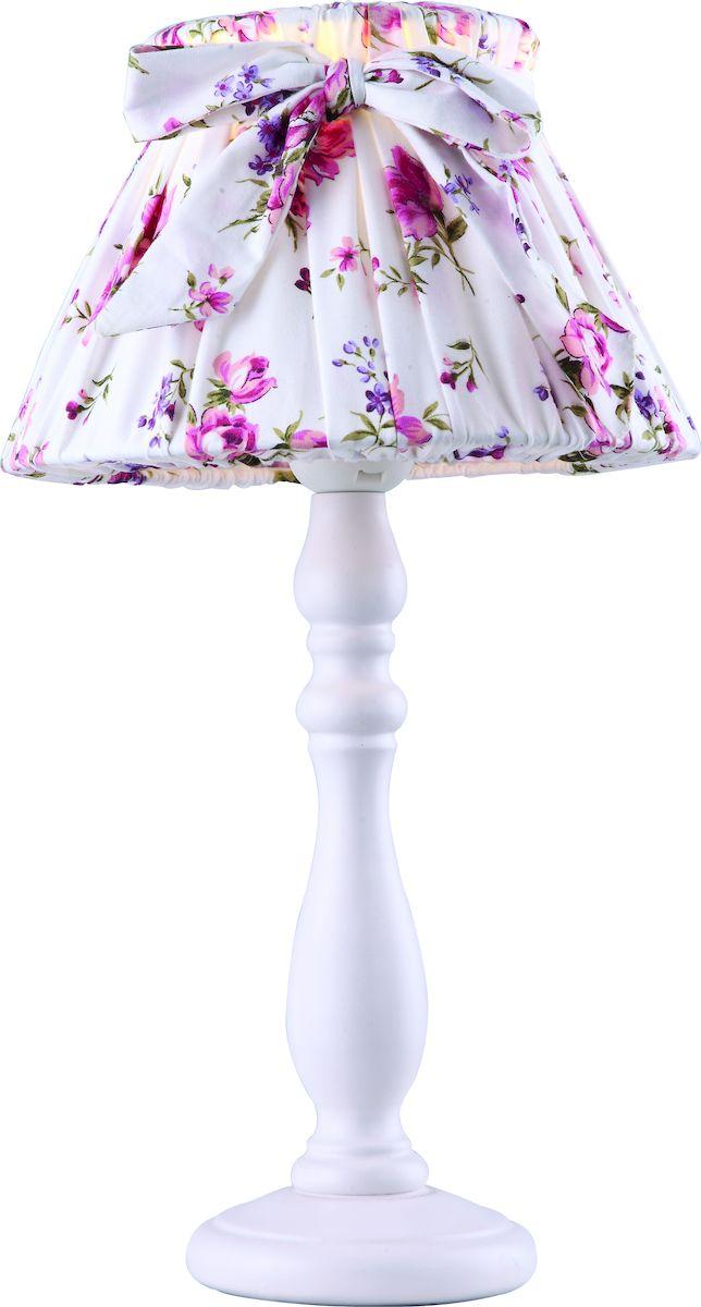 Светильник настольный Arte Lamp Bambina. A7020LT-1WHA7020LT-1WHСветильник Arte Lamp Amuleto поможет создать в вашем доме атмосферу уюта и комфорта. Благодаря высококачественным материалам он практичен в использовании и отлично работает на протяжении долгого периода времени. Цоколь Е27, 1 шт, 40 Ватт. Высота светильника: 350 см.