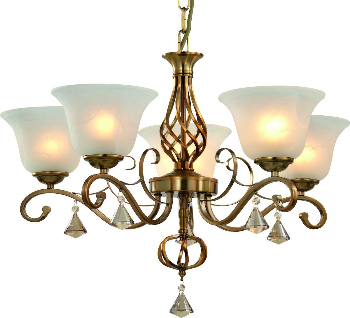 Светильник подвесной Arte Lamp Cono. A8391LM-5PBA8391LM-5PBСветильник Arte Lamp Cono поможет создать в вашем доме атмосферу уюта и комфорта. Благодаря высококачественным материалам он практичен в использовании и отлично работает на протяжении долгого периода времени. Высота до цепи: 56 см. Длина цепи: 120 см (укорачивается). Цоколь Е27, 5х60 Ватт. Тип крепления: чаша на крюк.
