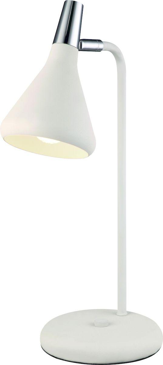 Светильник настольный Arte Lamp Ciclone. A9154LT-1WHA9154LT-1WHСветильник Arte Lamp Ciclone поможет создать в вашем доме атмосферу уюта и комфорта. Благодаря высококачественным материалам он практичен в использовании и отлично работает на протяжении долгого периода времени. Цоколь Е14, 1 шт, 40 Ватт. Высота светильника: 430 см. Поворотный плафон. Ножка не гнется.