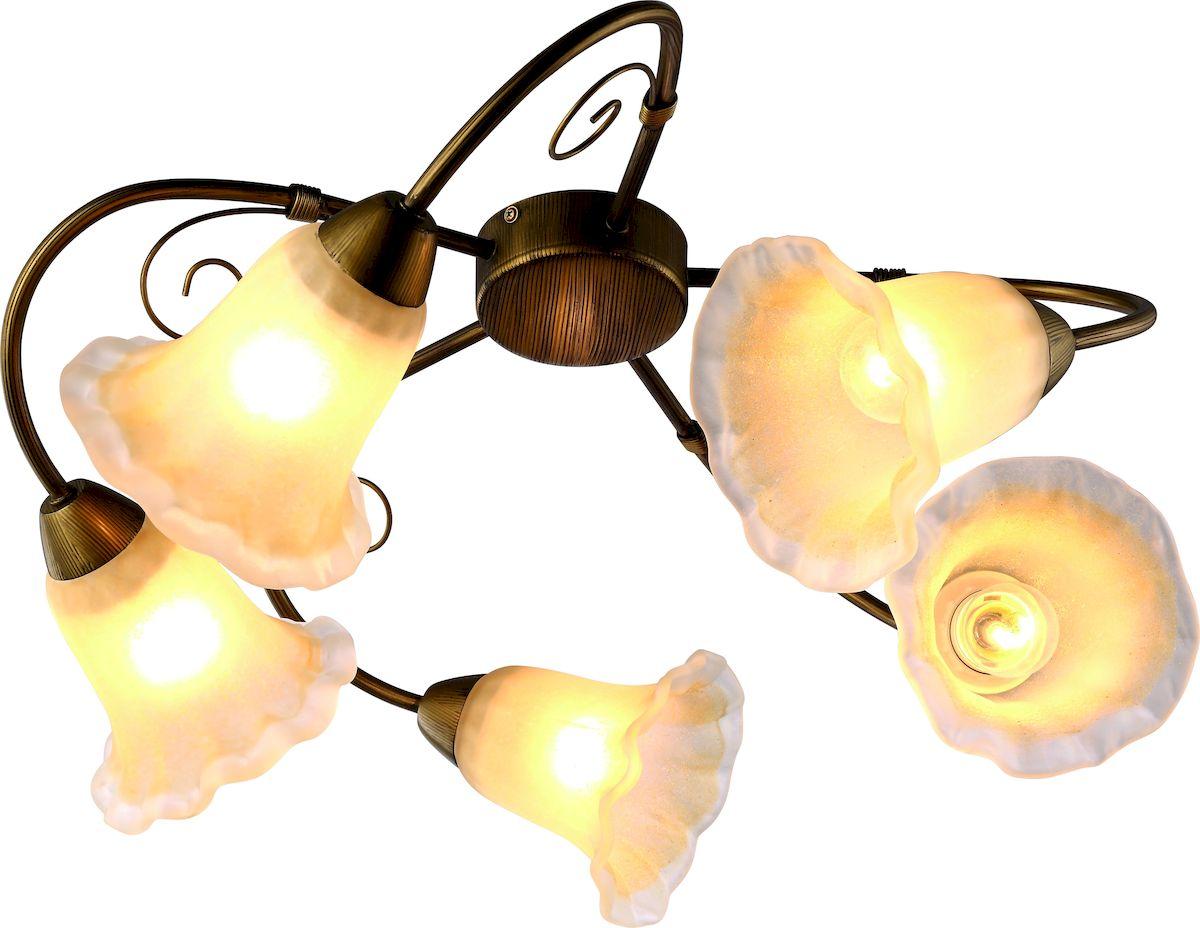 Светильник потолочный Arte Lamp MORMORIO A9361PL-5BR потолочная люстра arte lamp mormorio a9361pl 5br