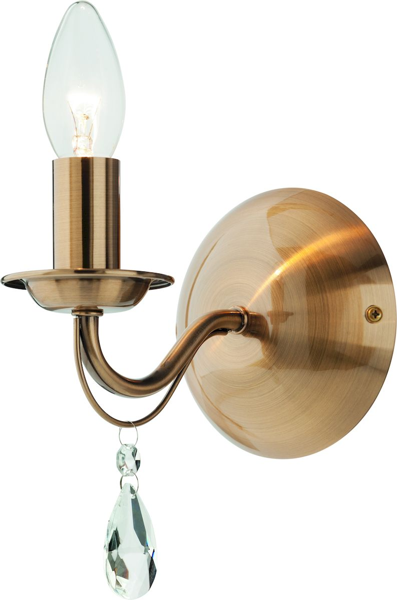 Светильник настенный Arte Lamp AMULETO A9369AP-1RBA9369AP-1RBБра (настенный светильник) Arte Lamp A9369AP-1RB AMULETO, выполненный в классическом стиле, прекрасно впишется в интерьер Вашей гостиной, спальни или любой другой комнаты.