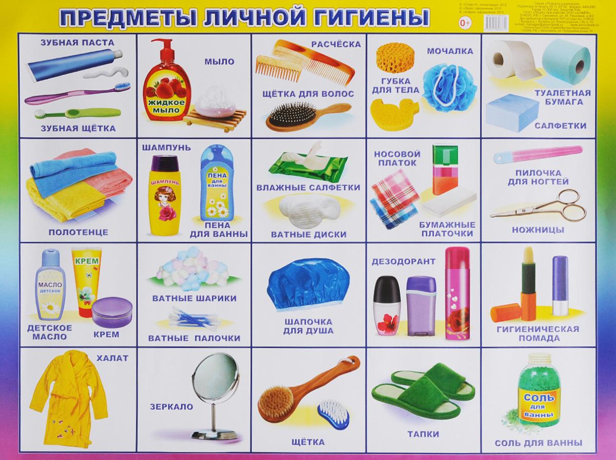 Алфея Обучающий плакат Предметы личной гигиены средства и предметы гигиены