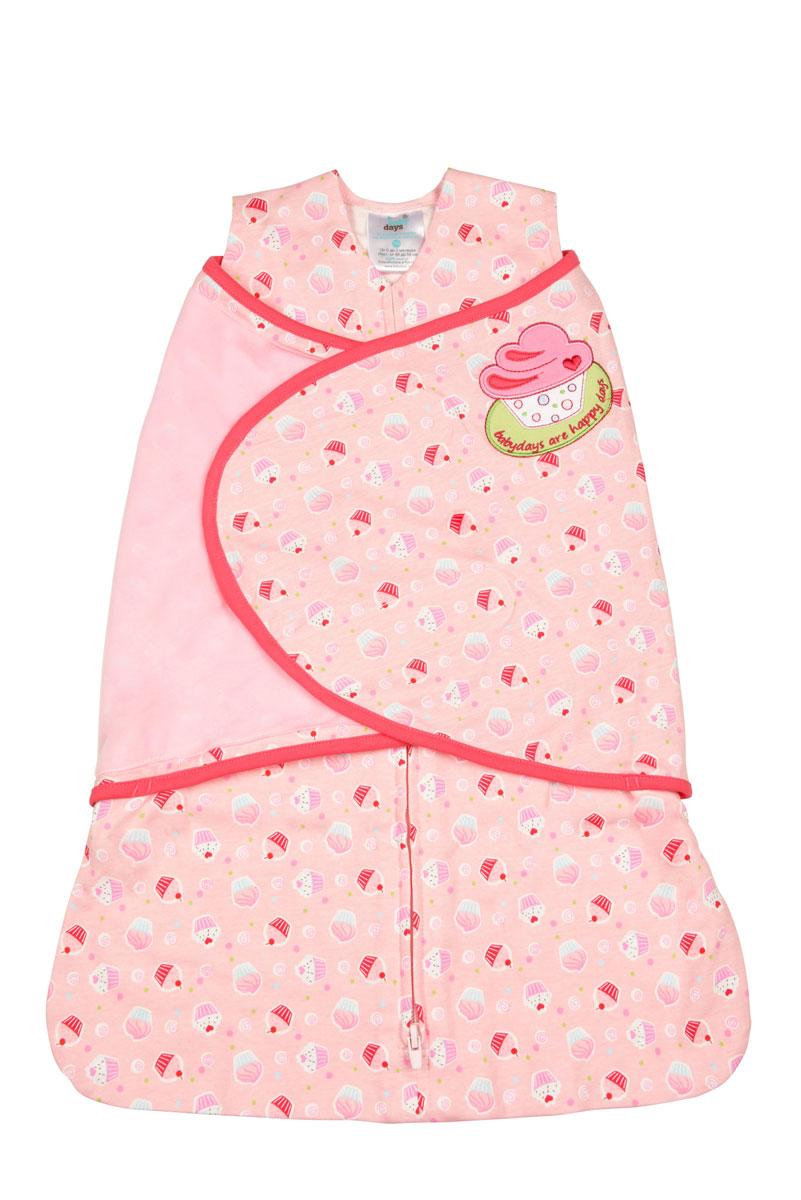 Спальный конверт для девочки Babydays Пирожное, цвет: розовый, белый, голубой. bd20001-1. Размер 0 месяцев0101-202 CUP_розовый_3/6месСпальный конверт для девочки Babydays Пирожное изготовлен из натурального хлопка. Изделие необычайно мягкое и легкое, не раздражает нежную кожу ребенка, хорошо вентилируется. Модель спроектирована с учетом максимальной безопасности и комфорта, заменяя традиционные одеяльца, которые могут закрыть малышу лицо и затруднить дыхание. Безрукавный крой снижает риск перегрева. Свободный крой не сковывает движения, что важно для правильного развития тазобедренного сустава.Конверт застегивается на пластиковую застежку-молнию снизу вверх, что делает удобным смену подгузников и не травмирует подбородок малыша, и дополнительно запахом на липучки. Модель спального конверта позволяет держать руки малыша как внутри, так и снаружи. Два способа пеленания ребенка показаны на инструкции по использованию. Оформлено изделие принтом с изображением пирожных, украшено аппликацией и вышитыми надписями. Спальный конверт полностью соответствует особенностям жизни ребенка в ранний период. Конверт подарит малышке тепло и безопасность, успокаивая и помогая заснуть, в то же время заботясь о правильном физическом развитии.