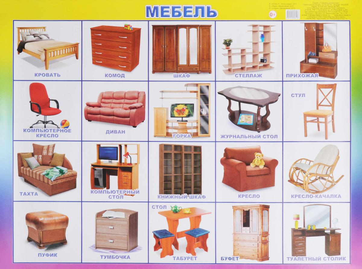 Алфея Обучающий плакат Мебель алфея обучающий плакат малый таблица умножения
