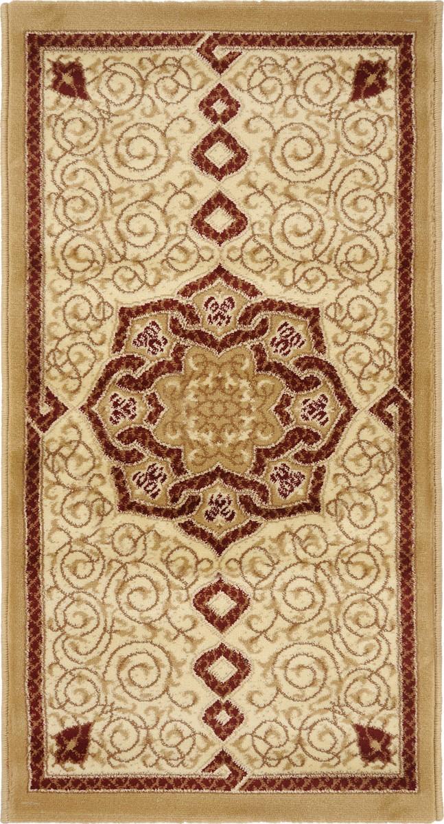 Ковер Kamalak Tekstil, прямоугольный, 60 x 110 см. УК-0091 ковер kamalak tekstil ук 0511