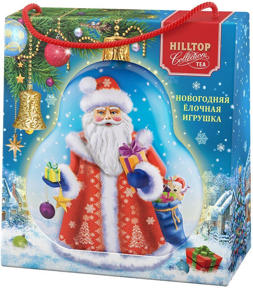 Hilltop Елочная игрушка Дед Мороз Цейлонское утро черный листовой чай, 50 г (в футляре)4607099307162Hilltop Цейлонское Утро - чёрный чай с мягким ароматом и терпко-сладким вкусом. Поставляется в подарочной упаковкев форме елочной игрушки. Отлично подойдет в качестве подарка на новогодние праздники.