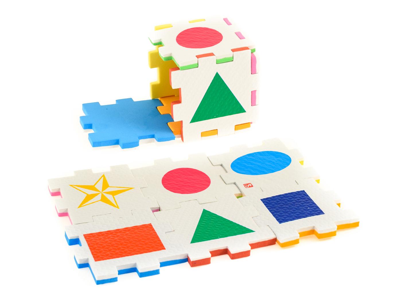 Нескучный кубик Пазл для малышей Фигуры learning journey пазл для малышей озорные фигуры 4 в 1