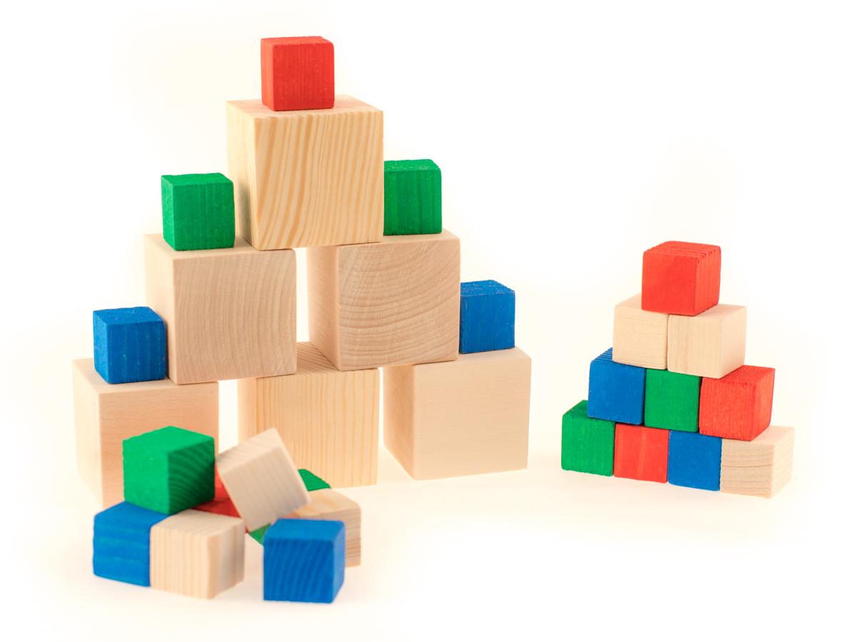 Развивающие деревянные игрушки Кубики Счетный материал Д018б