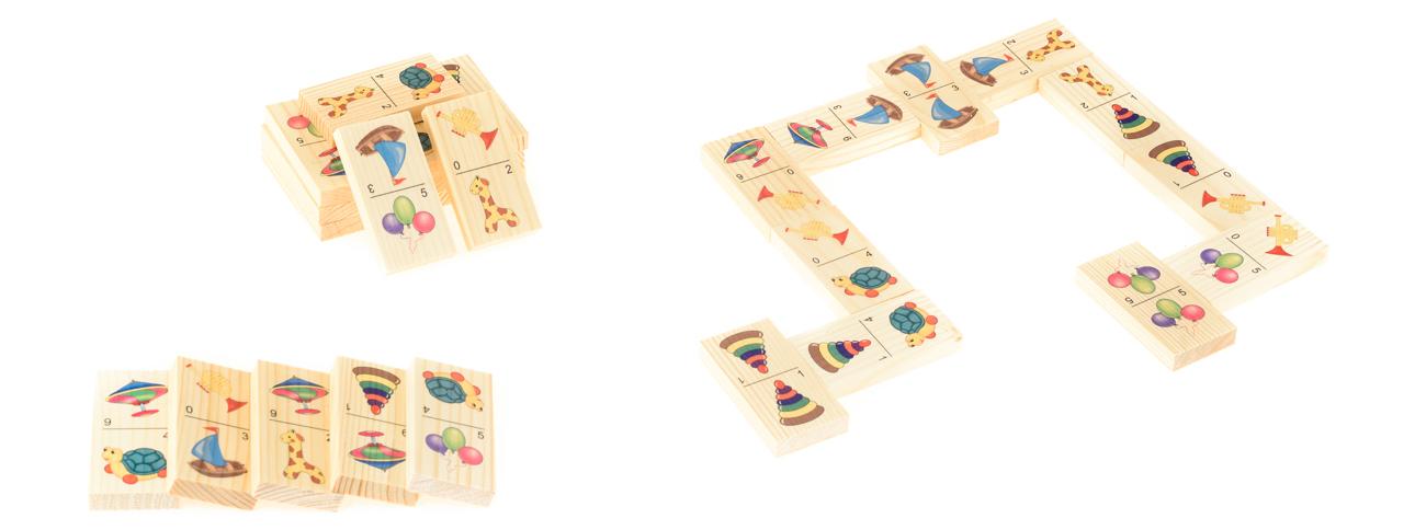 Развивающие деревянные игрушки Домино Игрушки-2