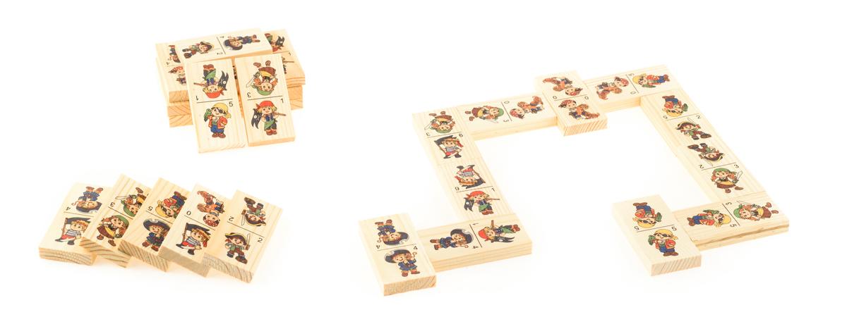 Развивающие деревянные игрушки Домино Пираты