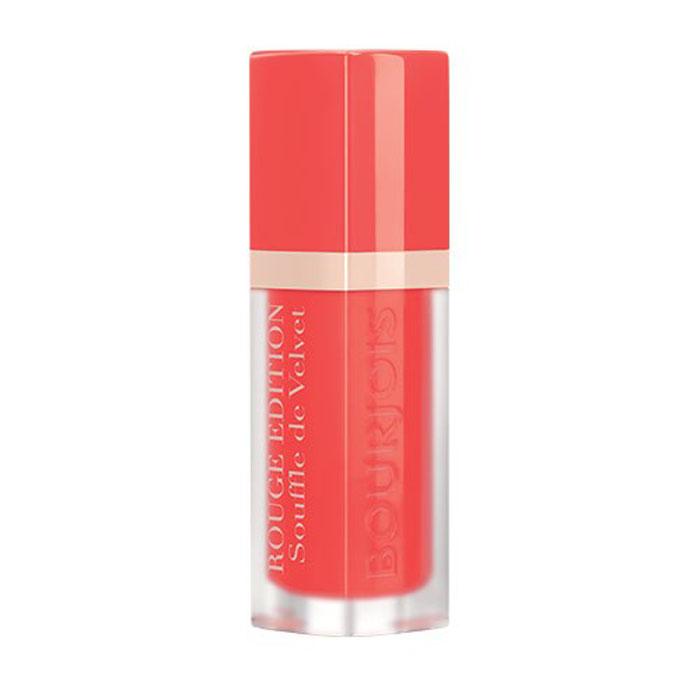 Bourjois Помада для губ Rouge Edition Souffle De Velvet, тон №01, 7,7 г29101292071Матовое покрытие и яркий цвет. Легкая, невесомая текстура, не ощутимая на губах. Простое нанесение, абсолютный комфорт и 24-часовая стойкость. Обладает ухаживающими свойствами бальзама; не ощущается на губах; обеспечивает невероятный комфорт.
