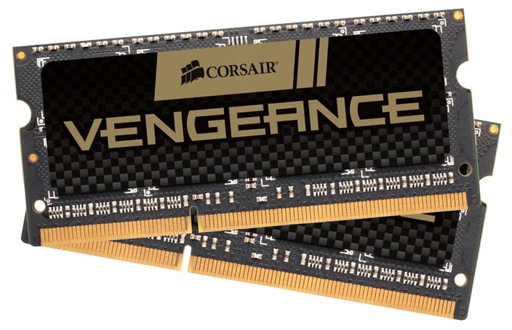 Corsair Vengeance DDR3 2x4Gb 1600 МГц комплект модулей оперативной памяти для ноутбука (CMSX8GX3M2A1600C9)CMSX8GX3M2A1600C9Если вы используете свой ноутбук для тяжелых приложений, таких как фото- и видеоредакторы, то он должен иметь столько памяти, насколько это возможно. Добавление комплекта памяти Corsair Vengeance DDR3 SODIMMпозволит вам работать в многозадачном режиме между несколькими программами одновременно, загружать и редактировать большие файлы без задержек.Модули памяти Corsair Vengeance DDR3 SODIMM специально разработаны для ноутбуков, в которых установлены процессоры Intel Core i5/i7 второго или третьего поколения. Многие ноутбуки оснащены модулями памяти, которые не имеют возможности работать на максимальных частотах, которые поддерживают процессоры. С помощью комплекта высокопроизводительных модулей Corsair Vengeance DDR3 SODIMM ваш ноутбук автоматически определит самую высокую частоту, которую поддерживает память для наилучшей работы.
