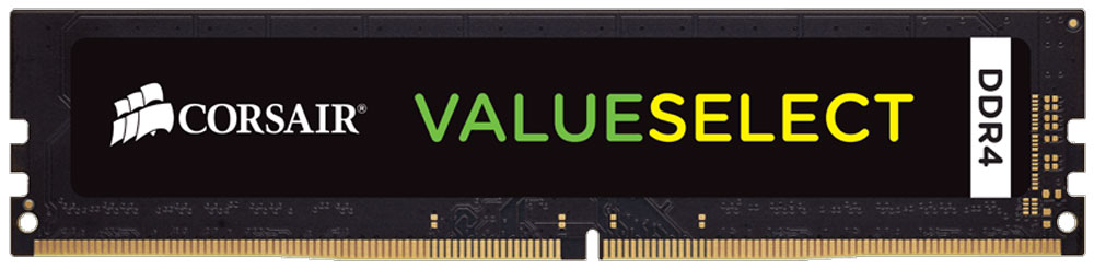 Corsair ValueSelect DDR4 8Gb 2133 МГц модуль оперативной памяти (CMV8GX4M1A2133C15)CMV8GX4M1A2133C15Модули памяти Corsair ValueSelect DDR4 разработаны для опережения отраслевых стандартов, чтобы гарантировать максимальную совместимость практически со всеми ПК Intel 6-го поколения. Они собраны из лучших компонентов и тщательно проверены для обеспечения стабильной и надежной работы. Как собрать игровой компьютер. Статья OZON Гид