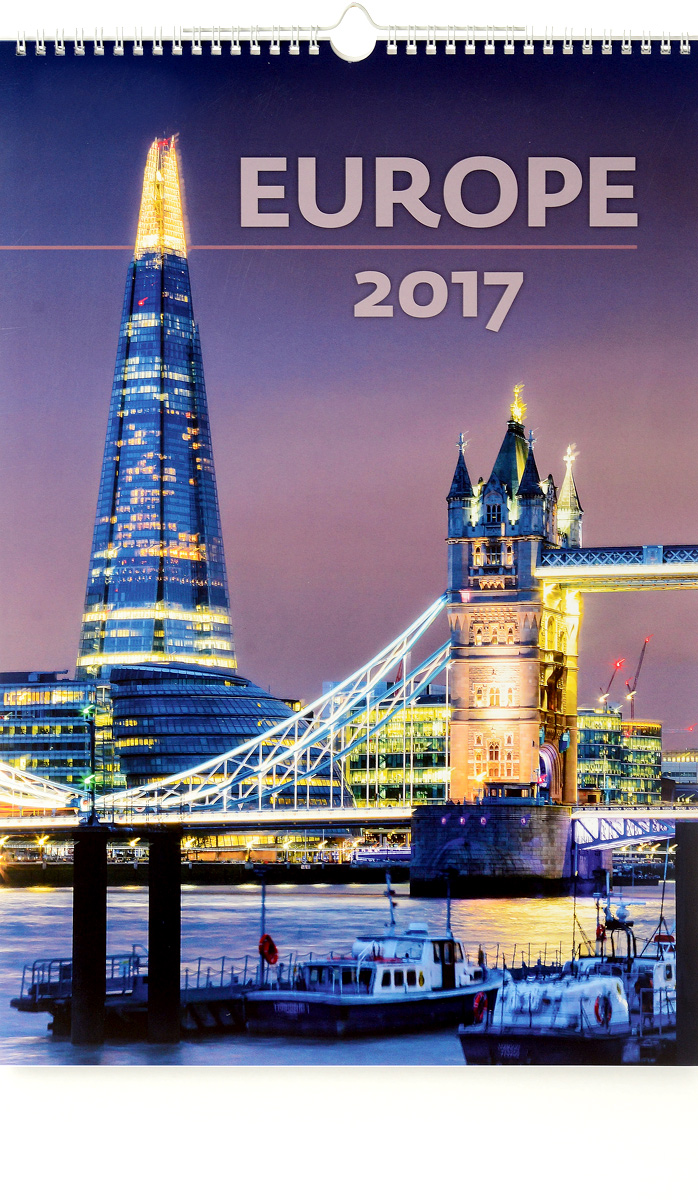 Календарь 2017 (на спирали). Europe