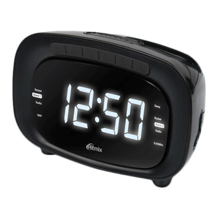 Ritmix RRC-1250, Black радиобудильник - Радиобудильники и проекционные часы