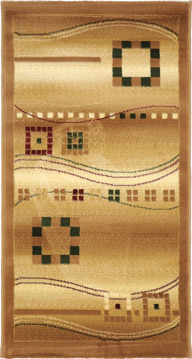 Ковер Kamalak Tekstil, прямоугольный, 60 x 110 см. УК-0082УК-0082Ковер Kamalak Tekstil изготовлен из прочного синтетического материала heat-set, улучшенного варианта полипропилена (эта нить получается в результате его дополнительной обработки). Полипропилен износостоек, нетоксичен, не впитывает влагу, не провоцирует аллергию. Структура волокна в полипропиленовых коврах гладкая, поэтому грязь не будет въедаться и скапливаться на ворсе. Практичный и износоустойчивый ворс не истирается и не накапливает статическое электричество. Ковер обладает хорошими показателями теплостойкости и шумоизоляции. Оригинальный рисунок позволит гармонично оформить интерьер комнаты, гостиной или прихожей. За счет невысокого ворса ковер легко чистить. При надлежащем уходе синтетический ковер прослужит долго, не утратив ни яркости узора, ни блеска ворса, ни упругости. Самый простой способ избавить изделие от грязи - пропылесосить его с обеих сторон (лицевой и изнаночной). Влажная уборка с применением шампуней и моющих средств не противопоказана. Хранить рекомендуется в свернутом рулоном виде.