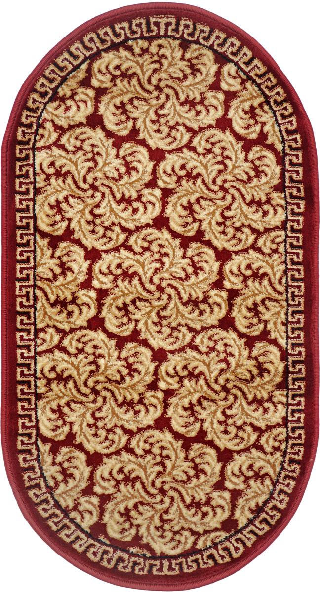 Ковер Kamalak Tekstil, овальный, 60 x 110 см. УК-030132-099Ковер Kamalak Tekstil изготовлен из прочного синтетического материала heat-set, улучшенного варианта полипропилена (эта нить получается в результате его дополнительной обработки). Полипропилен износостоек, нетоксичен, не впитывает влагу, не провоцирует аллергию. Структура волокна в полипропиленовых коврах гладкая, поэтому грязь не будет въедаться и скапливаться на ворсе. Практичный и износоустойчивый ворс не истирается и не накапливает статическое электричество.Ковер обладает хорошими показателями теплостойкости и шумоизоляции. Оригинальный рисунок позволит гармонично оформить интерьер комнаты, гостиной или прихожей.За счет невысокого ворса ковер легко чистить. При надлежащем уходе синтетический ковер прослужит долго, не утратив ни яркости узора, ни блеска ворса, ни упругости.Самый простой способ избавить изделие от грязи - пропылесосить его с обеих сторон (лицевой и изнаночной). Влажная уборка с применением шампуней имоющих средств не противопоказана.Хранить рекомендуется в свернутом рулоном виде.