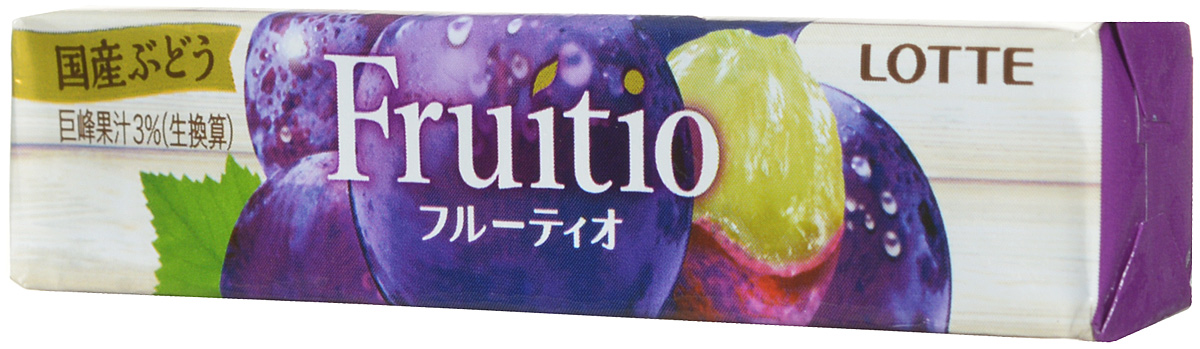 Lotte Fruitio Grape жевательная резинка, 21 г lotte жевательная резинка со вкусом японской сливы мягкая упаковка 9 шт