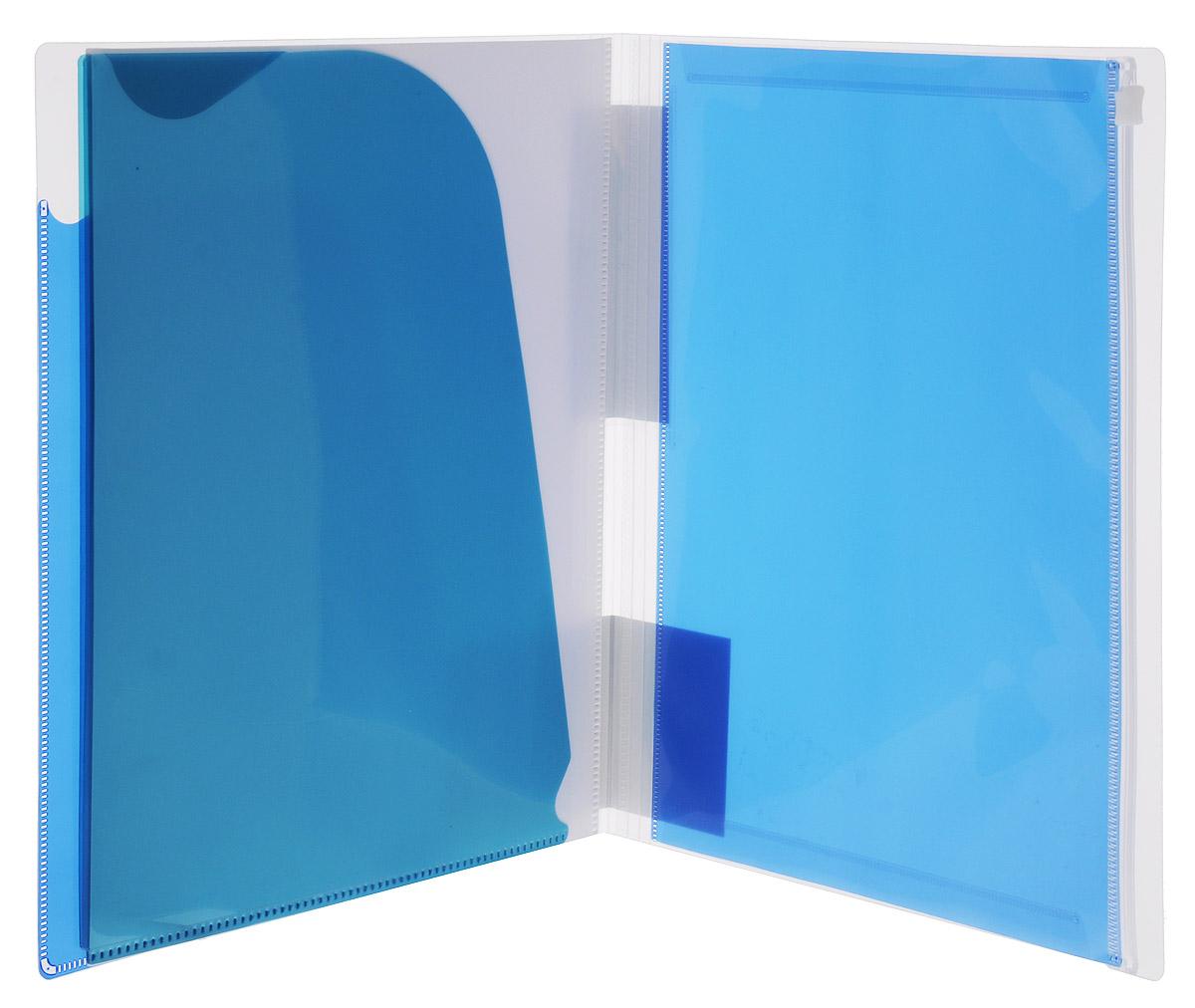KokuyoПапка-уголок Novita на 90 листов цвет синий Kokuyo