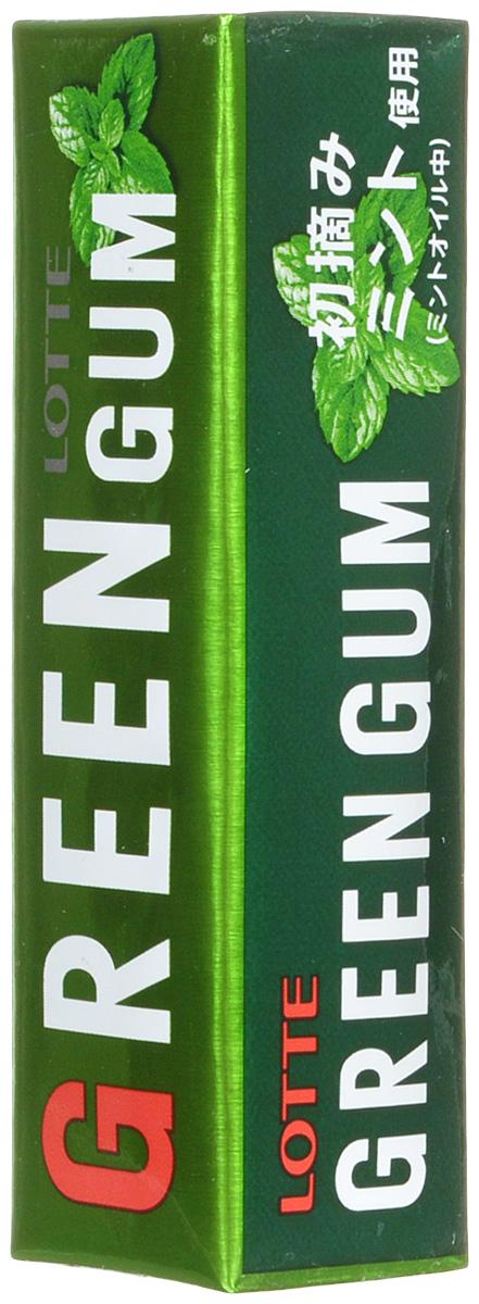 Lotte Green Gum жевательная резинка, 26 г coris gum gum 5 ассорти жевательная резинка 38 г