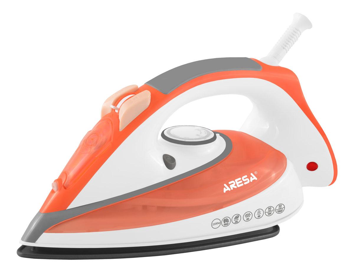 Aresa AR-3109 утюгAR-3109Утюг Aresa AR-3109 с керамическим покрытием подошвы превратит процесс глажки различных видов ткани в легкое и неутомительное занятие. Прибор обладает всеми необходимыми характеристиками для отличного результата: сухое глажение, отпаривание с регулировкой, функция разбрызгивания, возможность вертикального отпаривания. Модель оснащена функциями парового удара и самоочистки, а также системами анти-капля и анти-накипь. Сетевой шнур длиной 2,1 метра крепится при помощи шарового механизма, что не позволяет ему запутаться во время эксплуатации.