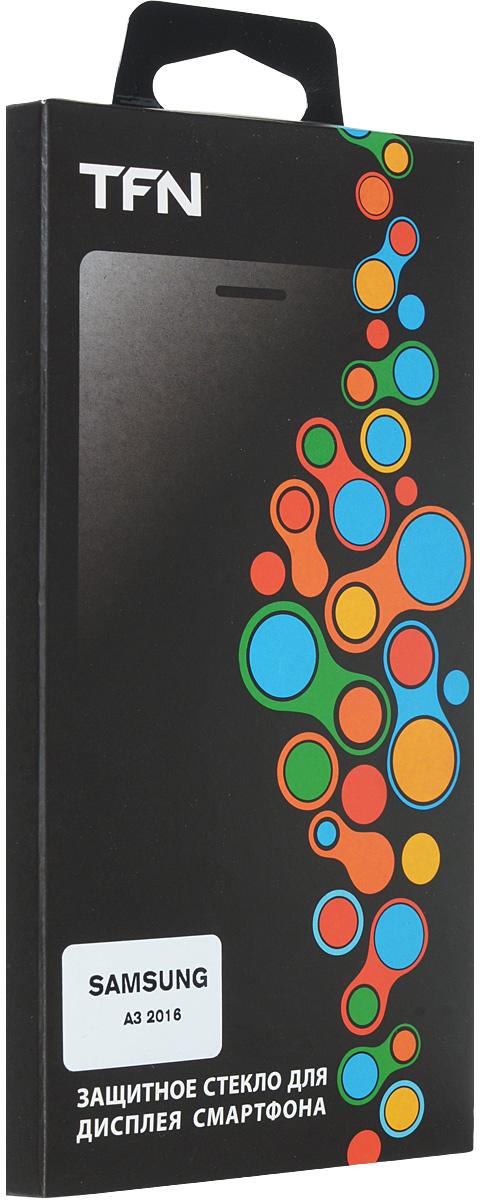TFN защитное стекло для Samsung Galaxy A3 (2016) 0.3mm, ClearSP-05-009G1Защитное стекло TFN для Samsung Galaxy A3 обеспечивает надежную защиту сенсорного экрана устройства от большинства механических повреждений и сохраняет первоначальный вид дисплея, его цветопередачу и управляемость. В случае падения стекло амортизирует удар, позволяя сохранить экран целым и избежать дорогостоящего ремонта. Стекло обладает особой структурой, которая держится на экране без клея и сохраняет его чистым после удаления.