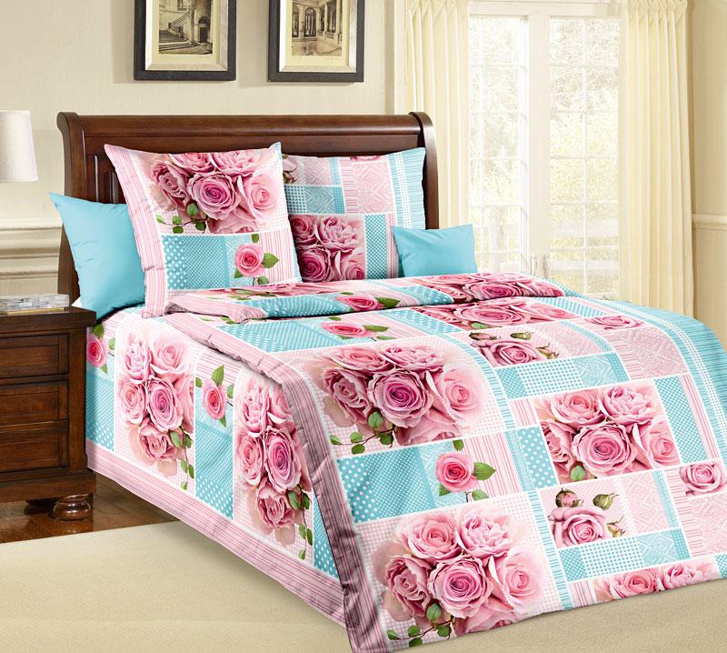 Комплект белья Текс-Дизайн Розали, 1,5-спальный, наволочки 70x70 комплект семейного белья василиса нежная роза 4172 1 70x70 c рб