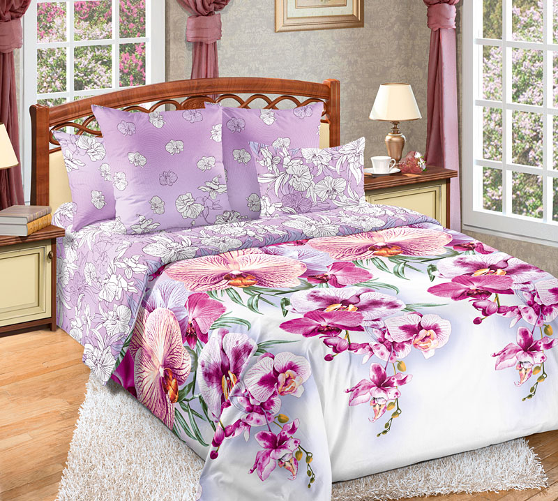 Комплект белья Текс-Дизайн Мальдивы 3, 1,5 спальный, наволочки 70x701250ПУ многих Мальдивы ассоциируются с райскими тропическими островами, омываемыми прозрачными и морскими волнами. Но Мальдивы - это еще и пышная растительность, яркие экзотические цветы. Поэтому перкалевое постельное белье расцветки Мальдивы 3 украшено экзотическими орхидеями, красоту которых эффектно оттеняет розовый фон.Перкаль - это тонкая и легкая хлопчатобумажная ткань высокой плотности полотняного переплетения, сотканная из пряжи высоких номеров. При изготовлении перкаля используются длинноволокнистые сорта хлопка, что обеспечивает высокие потребительские свойства материала. Несмотря на свою утонченность, перкаль очень практичен - это одна из самых износостойких тканей для постельного белья.
