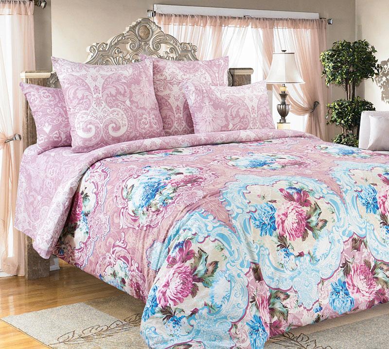 Комплект белья Текс-Дизайн Будуар, 2-спальный, наволочки 70x702250ПРисунок Будуар открывает для нас роскошь лепных розеток и нежность распустившихся цветов, которые связаны тонким, словно паутинка, орнаментом. Как прекрасен момент цветения! Кажется, еще миг и эти прекрасные цветы исчезнут, отцветут, оставив после себя легкий шлейф приятного аромата. Такую хрупкую красоту следует оберегать и стараться сохранить как можно дольше. Лепные античные розетки призваны обозначить границы между внешним, грубым миром и более тонким, деликатным, в котором время способно остановиться и сохранить красоту неизменной. Остановите для себя время с комплектом Будуар! Перкаль - это тонкая и легкая хлопчатобумажная ткань высокой плотности полотняного переплетения, сотканная из пряжи высоких номеров. При изготовлении перкаля используются длинноволокнистые сорта хлопка, что обеспечивает высокие потребительские свойства материала. Несмотря на свою утонченность, перкаль очень практичен – это одна из самых износостойких тканей для постельного белья.