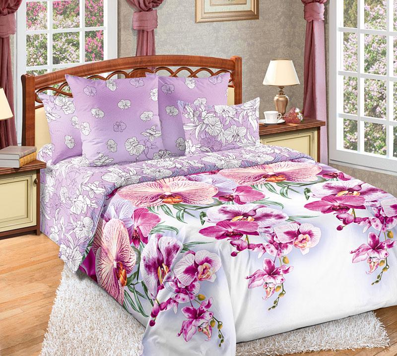 Комплект белья Текс-Дизайн Мальдивы 3, 2-х спальное, наволочки 70x70, цвет: розовый. 2250П2250ПУ многих Мальдивы ассоциируются с райскими тропическими островами, омываемыми прозрачными и морскими волнами. Но Мальдивы - это еще и пышная растительность, яркие экзотические цветы. Поэтому перкалевое постельное белье расцветки Мальдивы 3 украшено экзотическими орхидеями, красоту которых эффектно оттеняет сиреневый фон.Перкаль - это тонкая и легкая хлопчатобумажная ткань высокой плотности полотняного переплетения, сотканная из пряжи высоких номеров. При изготовлении перкаля используются длинноволокнистые сорта хлопка, что обеспечивает высокие потребительские свойства материала. Несмотря на свою утонченность, перкаль очень практичен - это одна из самых износостойких тканей для постельного белья.