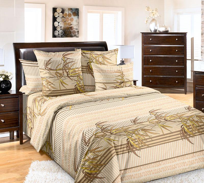 Комплект белья Текс-Дизайн Восток, евро, наволочки 70x70. 4200П4200ПВосточные орнаменты - это не только необычные затейливые узоры, такой декор может быть и простым, лаконичным, но не менее привлекательным. В постельном белье передана вся утонченность восточной природы, которая отражена стильными растительным узорами и орнаментами. Спокойные коричневые и зеленые тона подчеркивают особое настроение, создаваемое этим комплектом.Перкаль - это тонкая и легкая хлопчатобумажная ткань высокой плотности полотняного переплетения, сотканная из пряжи высоких номеров. При изготовлении перкаля используются длинноволокнистые сорта хлопка, что обеспечивает высокие потребительские свойства материала. Несмотря на свою утонченность, перкаль очень практичен – это одна из самых износостойких тканей для постельного белья.