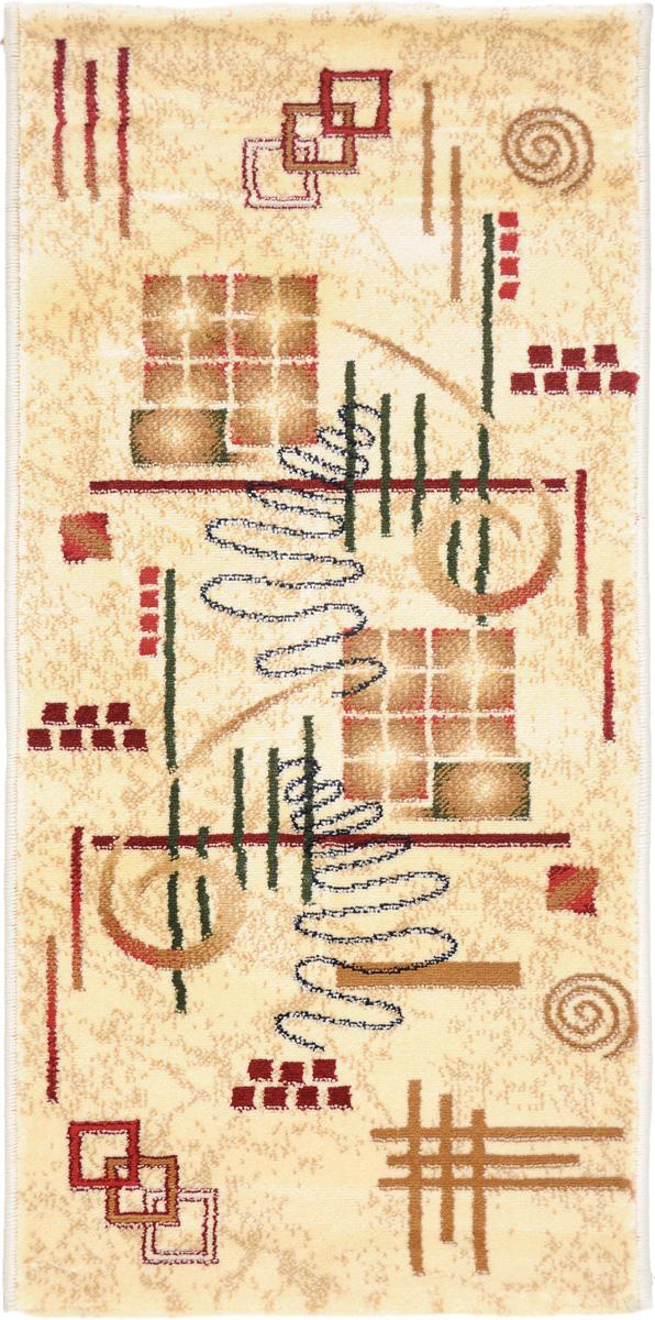 Ковер Kamalak Tekstil, прямоугольный, 50 x 100 см. УК-0444УК-0444Ковер Kamalak Tekstil изготовлен из прочного синтетического материала heat-set, улучшенного варианта полипропилена (эта нить получается в результате его дополнительной обработки). Полипропилен износостоек, нетоксичен, не впитывает влагу, не провоцирует аллергию. Структура волокна в полипропиленовых коврах гладкая, поэтому грязь не будет въедаться и скапливаться на ворсе. Практичный и износоустойчивый ворс не истирается и не накапливает статическое электричество. Ковер обладает хорошими показателями теплостойкости и шумоизоляции. Оригинальный рисунок позволит гармонично оформить интерьер комнаты, гостиной или прихожей. За счет невысокого ворса ковер легко чистить. При надлежащем уходе синтетический ковер прослужит долго, не утратив ни яркости узора, ни блеска ворса, ни упругости. Самый простой способ избавить изделие от грязи - пропылесосить его с обеих сторон (лицевой и изнаночной). Влажная уборка с применением шампуней и моющих средств не противопоказана. Хранить рекомендуется в свернутом рулоном виде.