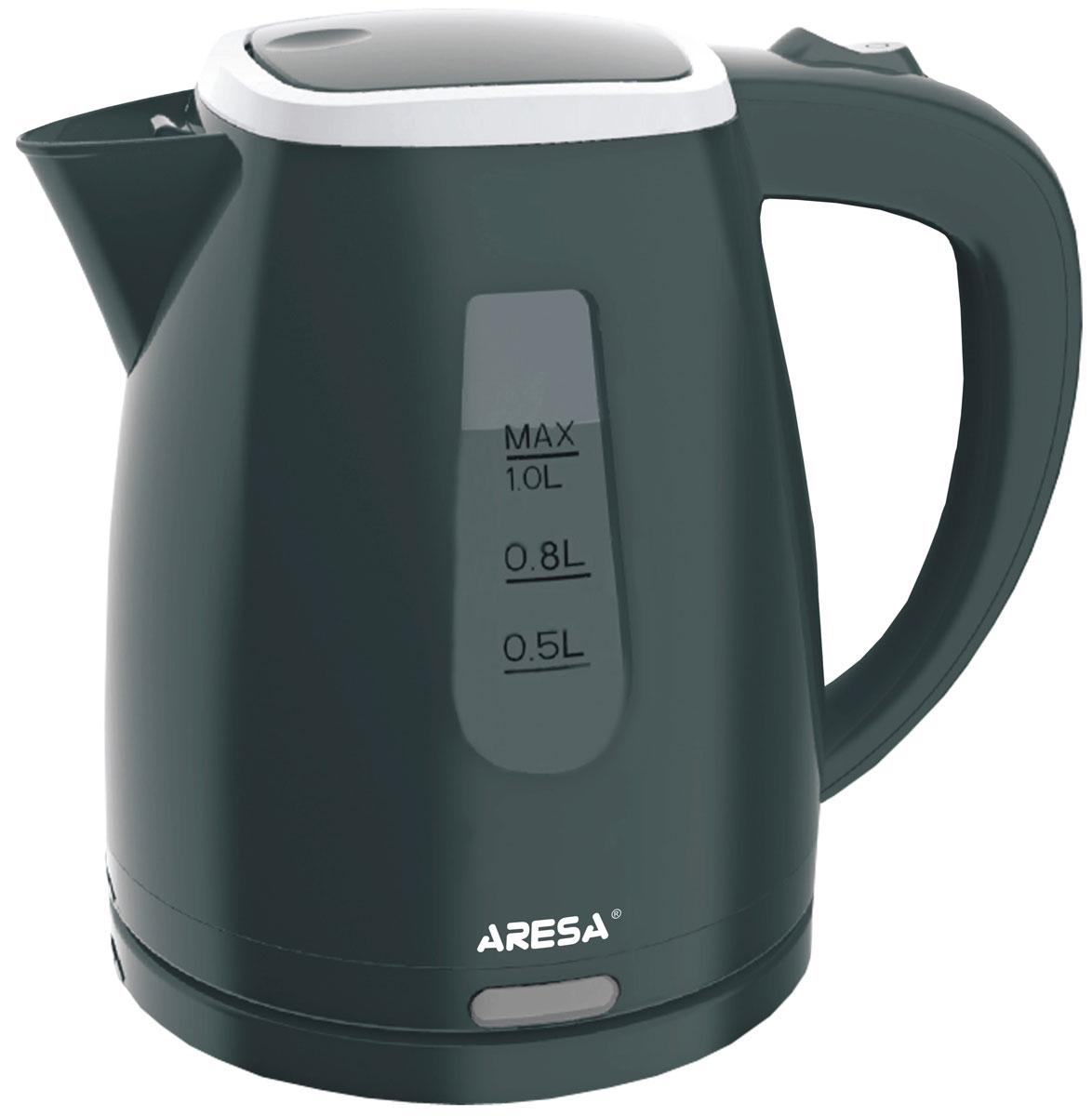 Aresa AR-3401 чайник электрическийAR-3401Надежный электрический чайник Aresa AR-3401 в корпусе из качественного пластика. Прибор оснащен скрытым нагревательным элементом и позволяет вскипятить до 1 литра воды за 3-5 минут. Данная модель оснащена светоиндикатором работы, поворотной подставкой с вращением на 360° и фильтром от накипи. Для обеспечения безопасности при повседневном использовании предусмотрены функция автовыключения, защита от перегрева, а также блокировка включения без воды.