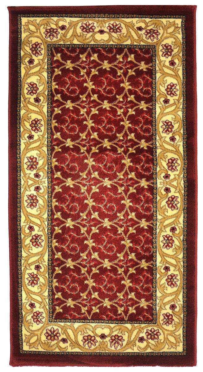 Ковер Kamalak Tekstil, прямоугольный, 80 x 150 см. УК-0222УК-0222Ковер Kamalak Tekstil изготовлен из прочного синтетического материала heat-set, улучшенного варианта полипропилена (эта нить получается в результате его дополнительной обработки). Полипропилен износостоек, нетоксичен, не впитывает влагу, не провоцирует аллергию. Структура волокна в полипропиленовых коврах гладкая, поэтому грязь не будет въедаться и скапливаться на ворсе. Практичный и износоустойчивый ворс не истирается и не накапливает статическое электричество. Ковер обладает хорошими показателями теплостойкости и шумоизоляции. Оригинальный рисунок позволит гармонично оформить интерьер комнаты, гостиной или прихожей. За счет невысокого ворса ковер легко чистить. При надлежащем уходе синтетический ковер прослужит долго, не утратив ни яркости узора, ни блеска ворса, ни упругости. Самый простой способ избавить изделие от грязи - пропылесосить его с обеих сторон (лицевой и изнаночной). Влажная уборка с применением шампуней и моющих средств не противопоказана. Хранить рекомендуется в свернутом рулоном виде.