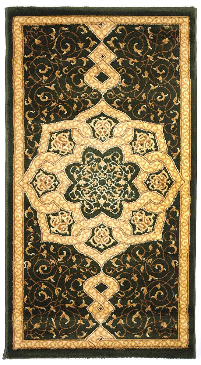 Ковер Kamalak Tekstil, прямоугольный, 80 x 150 см. УК-0093УК-0093Ковер Kamalak Tekstil изготовлен из прочного синтетического материала heat-set, улучшенного варианта полипропилена (эта нить получается в результате его дополнительной обработки). Полипропилен износостоек, нетоксичен, не впитывает влагу, не провоцирует аллергию. Структура волокна в полипропиленовых коврах гладкая, поэтому грязь не будет въедаться и скапливаться на ворсе. Практичный и износоустойчивый ворс не истирается и не накапливает статическое электричество.Ковер обладает хорошими показателями теплостойкости и шумоизоляции. Оригинальный рисунок позволит гармонично оформить интерьер комнаты, гостиной или прихожей.За счет невысокого ворса ковер легко чистить. При надлежащем уходе синтетический ковер прослужит долго, не утратив ни яркости узора, ни блеска ворса, ни упругости.Самый простой способ избавить изделие от грязи - пропылесосить его с обеих сторон (лицевой и изнаночной). Влажная уборка с применением шампуней имоющих средств не противопоказана.Хранить рекомендуется в свернутом рулоном виде.
