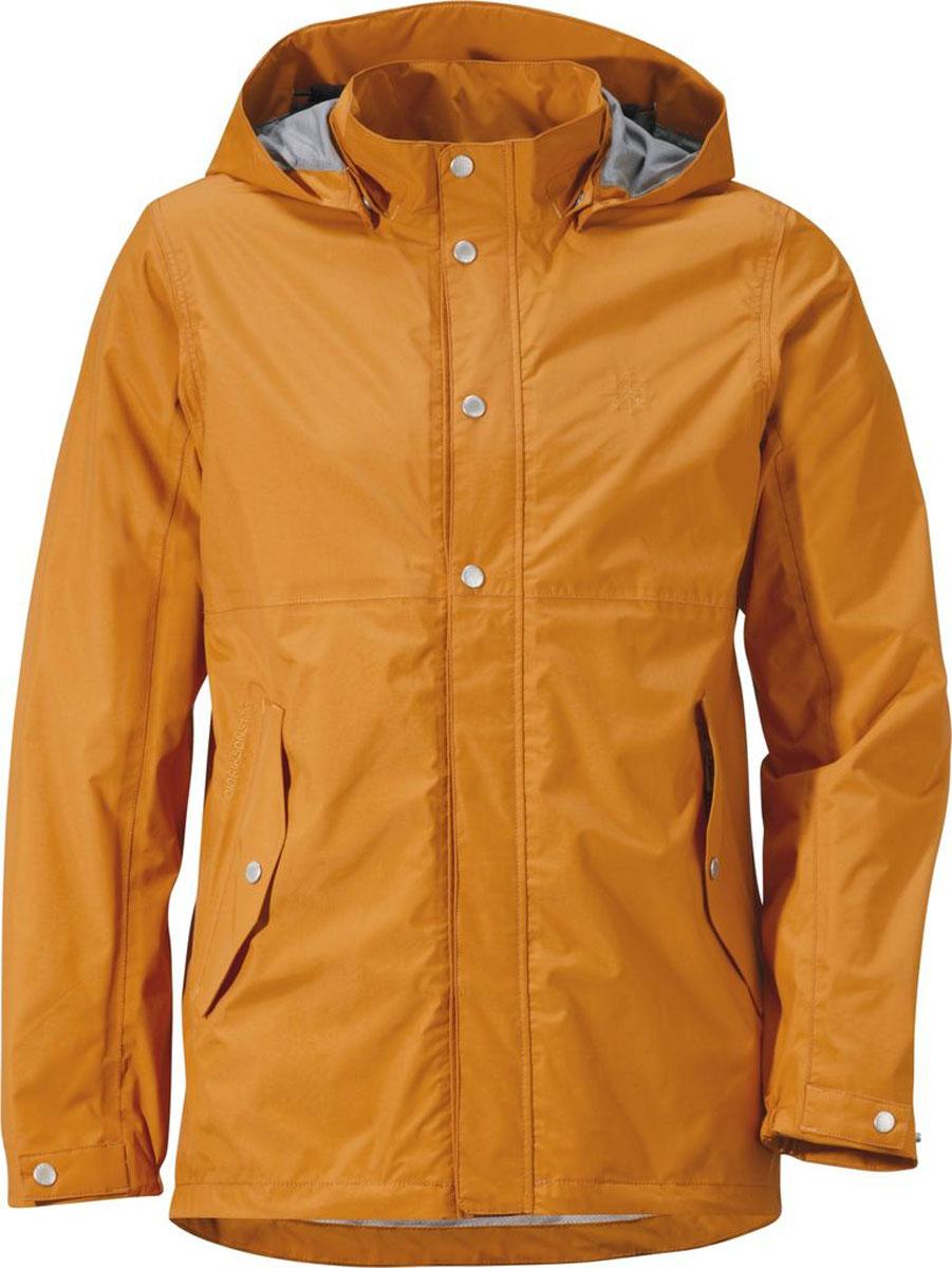 Куртка мужская Didriksons1913 Boreal., цвет: желтый туман. 500866_144. Размер M (48)500866_144Модная мужская куртка Didriksons1913 Boreal изготовлена из ветронепроницаемой дышащей ткани - высококачественного полиамида. Технология Storm System обеспечивает 100% водонепроницаемость и защиту от любых погодных условий. Подкладка выполнена из полиэстера и полиамида.Модель оформлена съемным капюшоном застегивается на пластиковую молнию и дополнительно на двойной ветрозащитный клапан с кнопками. Капюшон регулируется с помощью эластичных шнурков со стопперами. Спереди изделие дополнено двумя боковыми карманами, закрывающимися на клапаны с кнопками,с внутренней стороны - одним накладным сетчатым карманом и одним прорезным на застежке молнии и с дополнительным отверстием для наушников. Манжеты рукавов дополнены эластичными резинками, а ширина рукавов регулируются с помощью хлястиков с кнопками. Нижняя часть изделия с внутренней стороны регулируется за счет эластичного шнурка со стопперами.