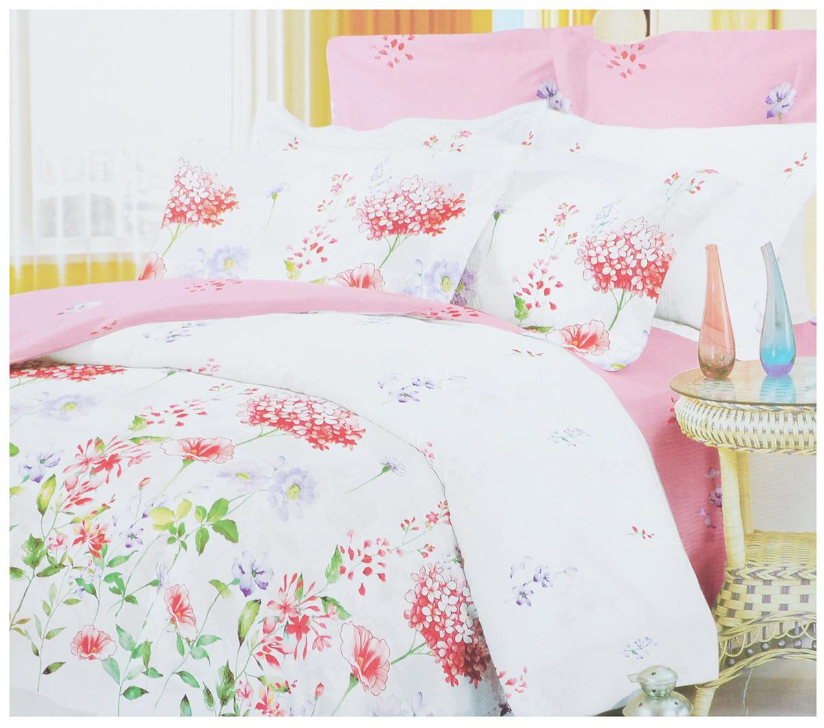 Комплект белья Primavera Утро, 1,5-спальный, наволочки 70x70, цвет: розовый, белый88263_розовыйРоскошный комплект постельного белья Primavera Утро выполнен из качественного плотного сатина и украшен оригинальным цветочным рисунком. Комплект состоит из пододеяльника, простыни и двух наволочек.Сатин - это ткань из 100% натурального хлопка. Мягкость и нежность материала создает чувство комфорта и защищенности. Классический натуральный природный материал делает это постельное белье нежным, элегантным и приятным. Приобретая комплект постельного белья Primavera Утро, вы можете быть уверены в том, что покупка доставит вам и вашим близким удовольствие и подарит максимальный комфорт.