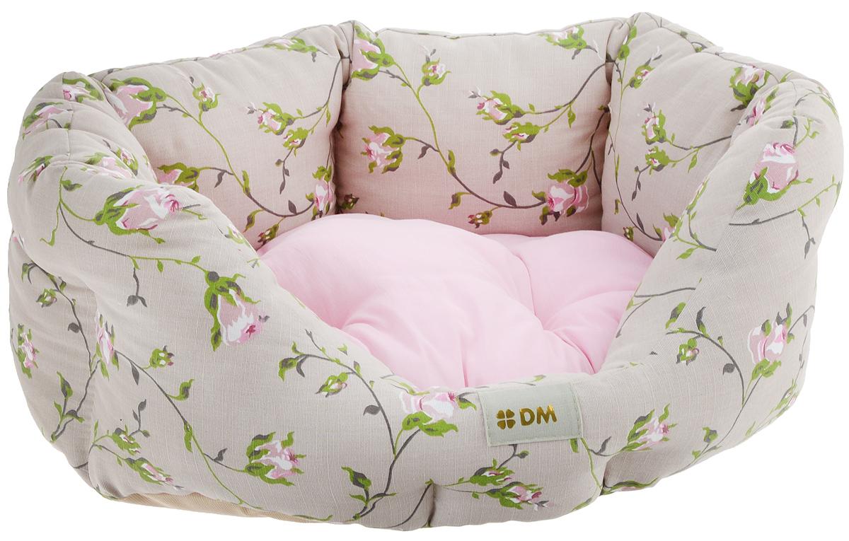 Лежак для животных Dogmoda Нежность, цвет: бежевый, розовый, 50 х 45 х 20 см лежаки для животных dogmoda лежак милан 54x47x16