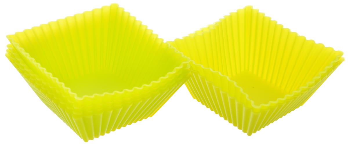 Набор форм для выпечки Mayer & Boch, цвет: салатовый, 7 х 7 см, 6 шт22069_салатовыйНабор Mayer & Boch состоит из шести форм, выполненных из силикона с рельефными стенками. Изделия предназначены для выпечки и заморозки. Силиконовые формы для выпечки имеют много преимуществ по сравнению с традиционными металлическими формами и противнями. Они идеально подходят для использования в микроволновых, газовых и электрических печах при температурах до +210°С. В случае заморозки до -40°С. Благодаря гибкости и антипригарным свойствам силикона, готовое изделие легко извлекается из формы. Силикон абсолютно безвреден для здоровья, не впитывает запахи, не оставляет пятен, легко моется. С таким набором Mayer & Boch вы всегда сможете порадовать своих близких оригинальной выпечкой.Размер формы: 7 х 7 см. Высота стенки: 3 см. Как выбрать форму для выпечки – статья на OZON Гид.
