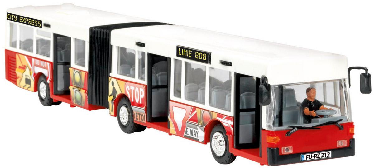 Dickie Toys Автобус-экспресс цвет белый красный dickie toys городской трамвай