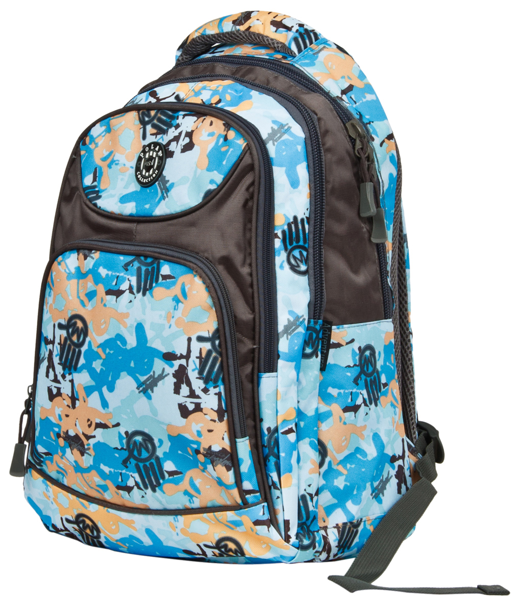 Рюкзак городской Polar, цвет: голубой, серый, 23,5 л. 80032 рюкзак городской polar 27 л цвет темно зеленый п1955 08